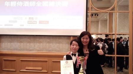 圖為觀光唐薇媛同學奪得全國第二名。