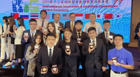 2020 IIIC國際創新發明競賽,龍華科大勇奪15金20銀3銅共35面獎牌,展現雄厚研發實力。