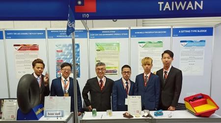 龍華科大宋大崙老師指導五專生,參加2019泰國國際發明展,獲得銅牌及特別獎。